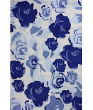 RugStudio presents Nuloom Hand Tufted Joanne Blue Hand-Tufted, Good Quality Area Rug
