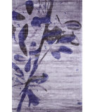 RugStudio presents Nuloom Hand Loomed Viscose Floral Harriet Blue Woven Area Rug