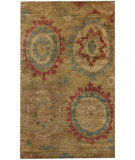 RugStudio presents Nuloom Textures Hemp Ikat Olive Hand-Knotted, Good Quality Area Rug