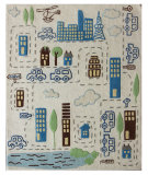 RugStudio presents Nuloom Hand Tufted Metropolis Ivory Hand-Tufted, Good Quality Area Rug