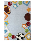 RugStudio presents Nuloom Hand Tufted Recess Sky Hand-Tufted, Good Quality Area Rug