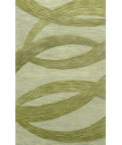 RugStudio presents Nuloom Hand Tufted Roxanne Ribbons Sage Hand-Tufted, Good Quality Area Rug