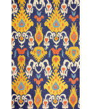 RugStudio presents Nuloom Hand Tufted Trista Ikat Dark Blue Hand-Tufted, Good Quality Area Rug