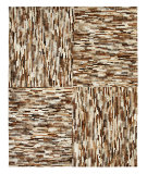 RugStudio presents Nuloom Textures Cow Hide Patchwork Brown Hand-Tufted, Good Quality Area Rug