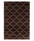 RugStudio presents Nuloom Modella Exotic Trellis Mocha Hand-Tufted, Good Quality Area Rug