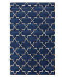RugStudio presents Nuloom Modella Star Trellis Blue Rain Hand-Tufted, Good Quality Area Rug