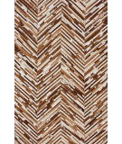 RugStudio presents Nuloom Hand Made Chevron Cowhide Tan Area Rug