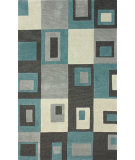 RugStudio presents Nuloom Hand Tufted Sqaured Charcoal Hand-Tufted, Best Quality Area Rug