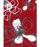 RugStudio presents Nuloom Modella Modern Flower Red Hand-Tufted, Good Quality Area Rug