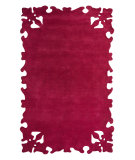 RugStudio presents Nuloom Hand Tufted Gustav Fuschia Hand-Tufted, Good Quality Area Rug
