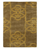 RugStudio presents Nuloom Modella Tribal Gold Hand-Tufted, Good Quality Area Rug