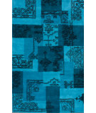 RugStudio presents Nuloom Hand Tufted Ink Overdyed Turquoise Hand-Tufted, Good Quality Area Rug