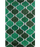 RugStudio presents Nuloom Hand Tufted Check Green Hand-Tufted, Good Quality Area Rug