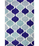RugStudio presents Nuloom Hand Tufted Check Blue Hand-Tufted, Good Quality Area Rug