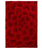 RugStudio presents Nuloom Modella Floral Transitions Red Hand-Tufted, Good Quality Area Rug