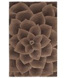 RugStudio presents Nuloom Modella Floral Transitions Taupe Hand-Tufted, Good Quality Area Rug