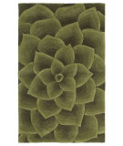 RugStudio presents Nuloom Modella Floral Transitions Green Hand-Tufted, Good Quality Area Rug