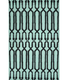 RugStudio presents Nuloom Flat Woven Leona Light Blue Flat-Woven Area Rug