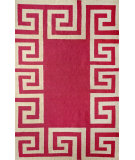 RugStudio presents Nuloom Flatweave Ruth Fuschia Flat-Woven Area Rug
