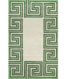 RugStudio presents Nuloom Hand Tufted Rick Greek Key Green Hand-Tufted, Good Quality Area Rug