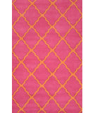 RugStudio presents Nuloom Hand Tufted Elias Pink Hand-Tufted, Good Quality Area Rug