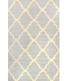 RugStudio presents Nuloom Hand Hooked Meknes Trellis Light Grey Hand-Hooked Area Rug