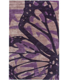 RugStudio presents Nuloom Cine Butterfly Purple Hand-Tufted, Good Quality Area Rug
