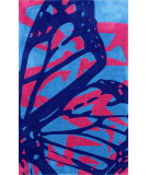 RugStudio presents Nuloom Hand Tufted Butterfly Wings Blue Hand-Tufted, Good Quality Area Rug