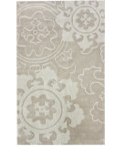 RugStudio presents Nuloom Cine Suzani Wheel Ivory Hand-Tufted, Good Quality Area Rug