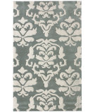 RugStudio presents Nuloom Cine Damask Mist Hand-Tufted, Good Quality Area Rug