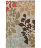 RugStudio presents Nuloom Cine Autumn Leaves Beige Hand-Tufted, Good Quality Area Rug