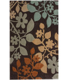 RugStudio presents Nuloom Cine Autumn Leaves Brown Hand-Tufted, Good Quality Area Rug
