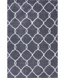 RugStudio presents Nuloom Cine Circle Trellis Slate Hand-Tufted, Good Quality Area Rug