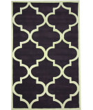 RugStudio presents Nuloom Hand Tufted Contempo Trellis Purple Hand-Tufted, Good Quality Area Rug