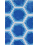 RugStudio presents Nuloom Hand Tufted Blu Blue Hand-Tufted, Good Quality Area Rug