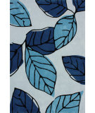 RugStudio presents Nuloom Hand Tufted Autumn Blue Hand-Tufted, Good Quality Area Rug