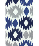 RugStudio presents Nuloom Hand Tufted Evan Blue Hand-Tufted, Good Quality Area Rug