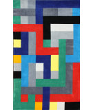RugStudio presents Nuloom Hand Tufted Pixel Multi Hand-Tufted, Good Quality Area Rug