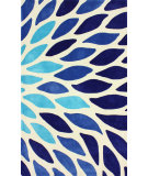 RugStudio presents Nuloom Hand Tufted Side Bloom Blue Multi Hand-Tufted, Good Quality Area Rug