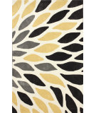 RugStudio presents Nuloom Hand Tufted Side Bloom Yellow Hand-Tufted, Good Quality Area Rug