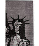 RugStudio presents Nuloom Cine Statue Of Liberty Grey Hand-Tufted, Good Quality Area Rug
