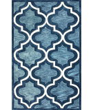 RugStudio presents Nuloom Hand Tufted Zachery Blue Hand-Tufted, Good Quality Area Rug