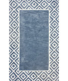 RugStudio presents Nuloom Hand Tufted Chalked Diamond Blue Hand-Tufted, Good Quality Area Rug