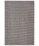 RugStudio presents Nuloom Hand Woven Houndstooth Blue Woven Area Rug