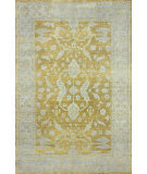 RugStudio presents Nuloom Hand Knotted Reina Peshawar Style Gold Hand-Knotted, Good Quality Area Rug
