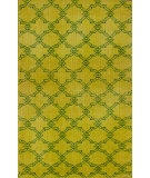 RugStudio presents Nuloom Hand Knotted Bold Overdye Trellis Yellow Hand-Knotted, Good Quality Area Rug