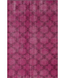 RugStudio presents Nuloom Hand Knotted Bold Overdye Trellis Pink Hand-Knotted, Good Quality Area Rug