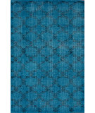 RugStudio presents Nuloom Hand Knotted Bold Overdye Trellis Aqua Hand-Knotted, Good Quality Area Rug