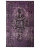 RugStudio presents Nuloom Hand Knotted Pierre Overdyed Purple Hand-Knotted, Good Quality Area Rug