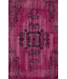 RugStudio presents Nuloom Hand Knotted Pierre Overdyed Pink Hand-Knotted, Good Quality Area Rug